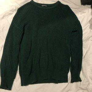 Green crewneck sweater